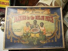 "Vintage Black Americana Board Game ""Darkies in the Melon Patch (11/15/2013)"