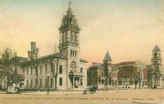 Court House, Jail, Masonic Temple and First M.E. Church