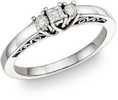 ApplesofGold.com - 1/4 Carat Art Deco Diamond Engagement Ring Wedding Jewelry $425.00