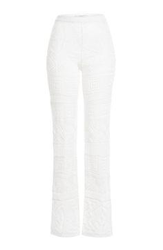 EMILIO PUCCI Wide Leg Crochet Pants. #emiliopucci #cloth #pants