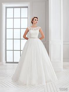 View Dress - Sans Pareil Bridal Collection: 1035 - Twirling lace bodice with…