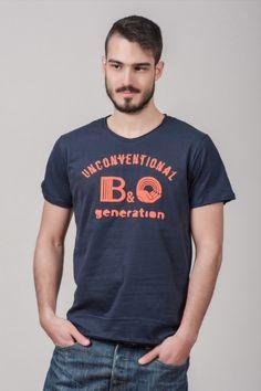 """Ανδρικό T shirt """"Unconventional generation"""" Navy"""