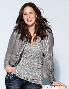 9b13fd631d9b Full Figure Linen Jacket by Lane Bryant | Lane Bryant Mature Women Fashion,  Curvy Girl