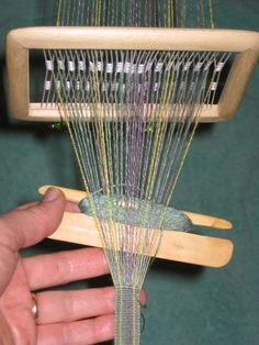 Ruth's semi-rigid heddles are so lovely and satisfying to use!