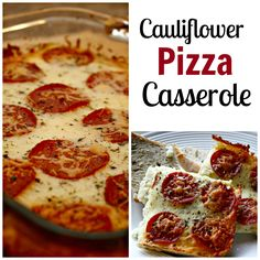 Craving pizza but trying to eat healthy? Try this cauliflower pizza casserole!