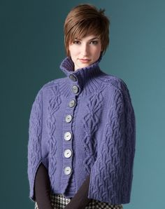 Nashua Handknits - NS5-2 - Cabled Cloak