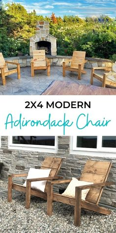Our MOST POPULAR Adirondack Chairs! For about $30 you can build your own modern Adirondack chairs! This is an easy build that shouldn't take too long, and the chair is super comfortable and sturdy! Free plans by Ana-White.com. #anawhite #anawhiteplans #diy #diyfuniture #outdoorfuniture #adirondack Diy Outdoor Furniture, Diy Furniture Plans, Outdoor Decor, Outdoor Seating, Outdoor Ideas, Garden Furniture, Diy Porch, Diy Patio, Diy Wood Projects