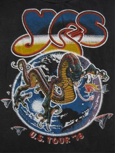 Original YES vintage 70s tour SHIRT small
