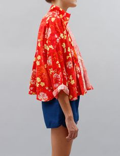 ece07095d98 Creatures of Comfort Nina Jacket- Poppy floral silk linen
