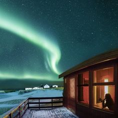 A room with a view!  Watching the #NorthernLights a.k.a. the #auroraborealis. Photo by @arnarkristjans_photography  Find him and see more of his work on #500px: http://ift.tt/1mGBVxs by 500px