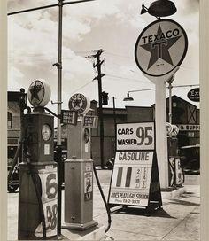 Gasoline Station on July 2, 1936.(Berenice Abbott via the MCNY)
