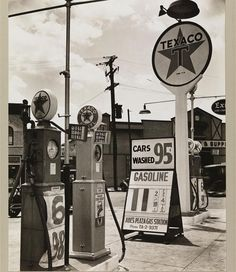 Gasoline Station on July 2, 1936  - whoa, gas was 11 cents a gallon!