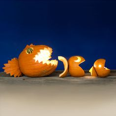 Fishy Food Chain Jack-o'-Lantern