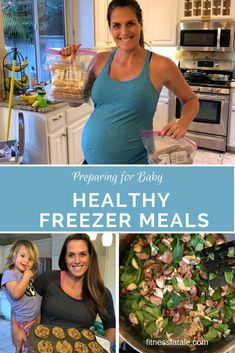Healthy freezer meals (including healthy freezer s. Healthy freezer meals (including healthy freezer snacks, lactation muffins, healthy freezer dinners and healthy freezer lunches) to prepare in advance before baby (or twins) arrive! Healthy Frozen Meals, Healthy Meals For Kids, Healthy Meal Prep, Kids Meals, Healthy Snacks, Baby Meals, Healthy Eating, Healthy Muffins, Clean Eating