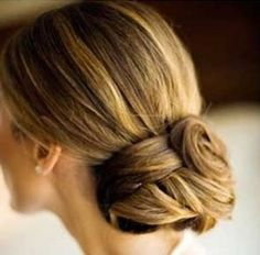 Gorgeous and formal bun hairstyle