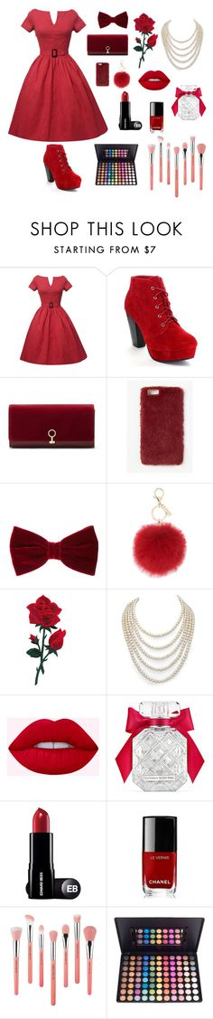 """""""#Moda&Styl👠"""" by rox42 ❤ liked on Polyvore featuring beauty, Louise et Cie, Missguided, L.K.Bennett, DaVonna, Victoria's Secret, Chanel and Bdellium Tools"""