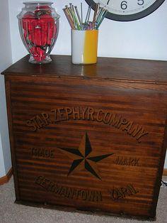 Star Zephyr Germantown Yarn Cabinet