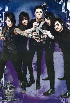 Kerrang awards Black Veil Brides they deserved it<3