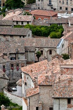 Gubbio, Italy. The city's origins are very ancient. The hills above the town were already occupied in the Bronze Age. | #BnBGenius #lifeisajourney