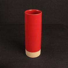 Les Guimards Medium Cylinder Vase, Red £75.00