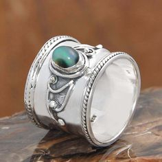 EXOTIC 925 SOLID STERLING SILVER ETHOPIAN OPAL RING 8.24g DJR10167 SZ-8…
