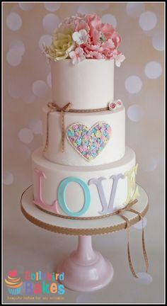 Pastel Love Wedding - Cake by Dollybird Bakes - CakesDecor