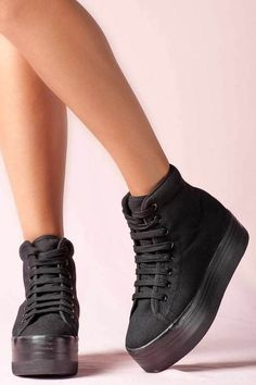 https://www.cityblis.com/6024/item/15158 | JEFFREY CAMPBELL HOMG BLACK BLACK - $97 by Jeffrey Campbell | JC is ready to PLAY! This new line of platform kicks from our favorite shoe king is here. And yeah, they're selling out real fast. The perfect pair of sneaker trend and at a totally affordable price, you can't NOT have these babies! 5 cm platform. Fabric upper and lining, man made sole. Re... | #Flats/Casual