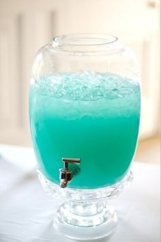 Tiffany Punch. Equal parts Blue Hawaiian Punch and Country Time Lemonade – Wouldn't this be cute for an engagement party, wedding shower, or girls' night in