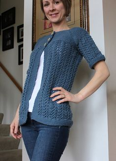 This is the February Ladies Sweater with a shorter sleeve. I like it better!