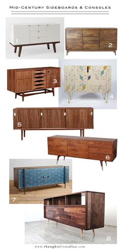 Design Crush: Mid-Century Sideboards & Consoles