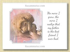 Lion & Cub Father's Day Card A