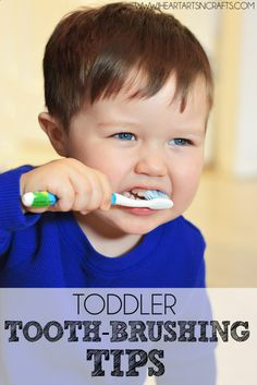 Tooth-Brushing Tips For Toddlers #ad #Smilestones