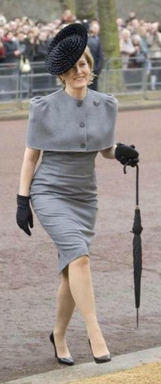 Britain's Sophie Rhys-Jones, Countess of Wessex arrives wearing a hat by Rachel Trevor - Morgan Millinery at the unveiling of a new statue of Queen Elizabeth, the Queen Mother on the Mall on February 24, 2009 in London, England. #passion4hats