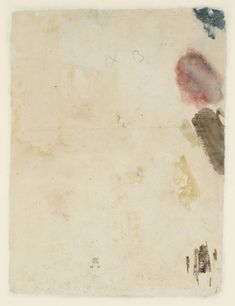Joseph Mallord William Turner 'Colour Trials',   --  From The Burning of the Pantheon, Oxford Street   --   1792  -  Watercolour on paper -  Collection -  Tate