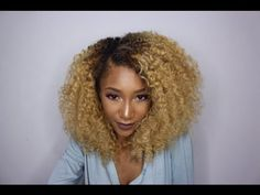 How To Style Texture Crush Clip Ins | Big Curly Afro - YouTube