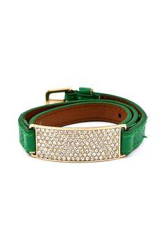 Crystal London Bracelet in Kelly