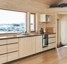 scandinavian retreat.: A cabin with a view