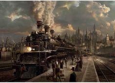 Steam Locomotive Puzzle  #Steampunk #Locomotive #Steam #Train #Puzzle