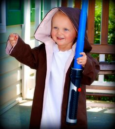 Reversible Jedi Robe Costume-- Toddler size  2T/3T -Made to order. $35.00, via Etsy.