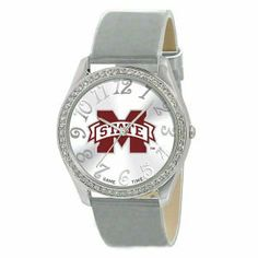 Mississippi State Bulldogs Glitz Ladies Watch . $34.99. A stylish accessory for the true fan! With official team logos and patent leather strap, this ladies watch makes the perfect accessory for any occasion. Features include a metal case with 50 crystal stones, brass dial, stainless steel buckle, case back and crown. The watch is water resistant to 3 ATM (99ft) and comes with manufacturer Limited Lifetime Warranty