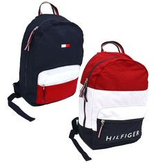 c07b72b9191b Backpacks Bags and Briefcases 52357  Tommy Hilfiger Backpack Canvas Travel Book  Bag 2 Pocket Mens Womens School New -  BUY IT NOW ONLY   69.99 on eBay!