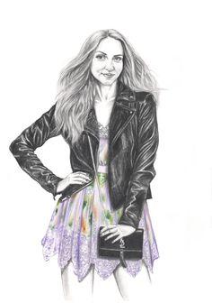 Graphic, draw, fashion illustration