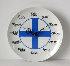 Numerot lautanen ja kello // Numbers a plate and a clock (it's a plate clock) Helsinki, Learn Finnish, Finnish Words, Finnish Language, Scandinavian Food, Learning Numbers, Ceramic Plates, Sweden, Clock