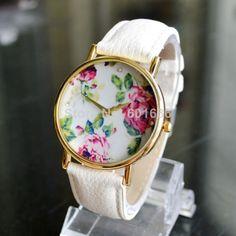 795d627c6f7 nova 2014 moda genebra vintage rosa mulheres relógio de quartzo de couro  relógios vestido casual senhoras