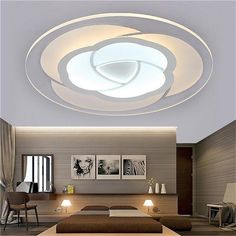 Ceiling Lights & Fans Ceiling Lights Modern Ceiling Lights Ac 220v 240v 12w 24w 36w 48w Led Ceiling Light Color Shell Remote Control Panel Lamp Fixture Living Room Rich And Magnificent