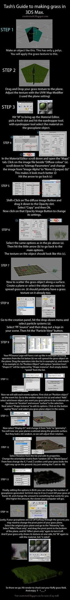 3DS Max Tutorial: Making Grass