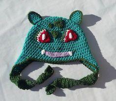 bulbasaur hat, crochet pokemon,pokemon gifts,pokemon cosplay,pokemon costume,halloween costume,adult costumes,cosplay hat,womens accessories