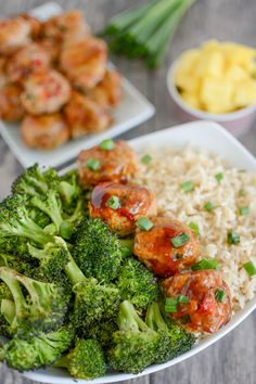 This Carrot Pineapple Turkey Meatballs recipe is easy to make and packed with vegetables, plus a pineapple glaze for extra flavor. Prep them ahead of time and eat warm or cold for a quick lunch or dinner. Meatballs And Rice, Turkey Meatballs, Ground Turkey Enchiladas, Recipes Using Ground Turkey, Lean And Green Meals, Dinner Recipes, Dinner Ideas, Lunch Ideas, Meal Ideas