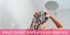 Upgrade Your Master Bath With A Rain Shower head and instantly improve your morning routine. Easy Step, DIY, No plumber needed. Transform your Shower Experience today. Best Rain Shower Head, Shower Heads, Bathroom Designs Images, Ceiling Installation, Rainfall Shower, Shower Arm, Bathroom Renovations, Master Bathroom, Routine