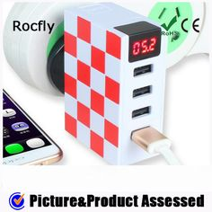 Rocfly TD002 LED Wall Charger,it is an Creative AC Adapter with 4 Port USB Output with Max 4.8A Charging Currency.ABS Material Now Have Black and White Color.Waiting for your enquiry.
